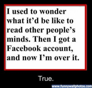 I used to wonder - read minds