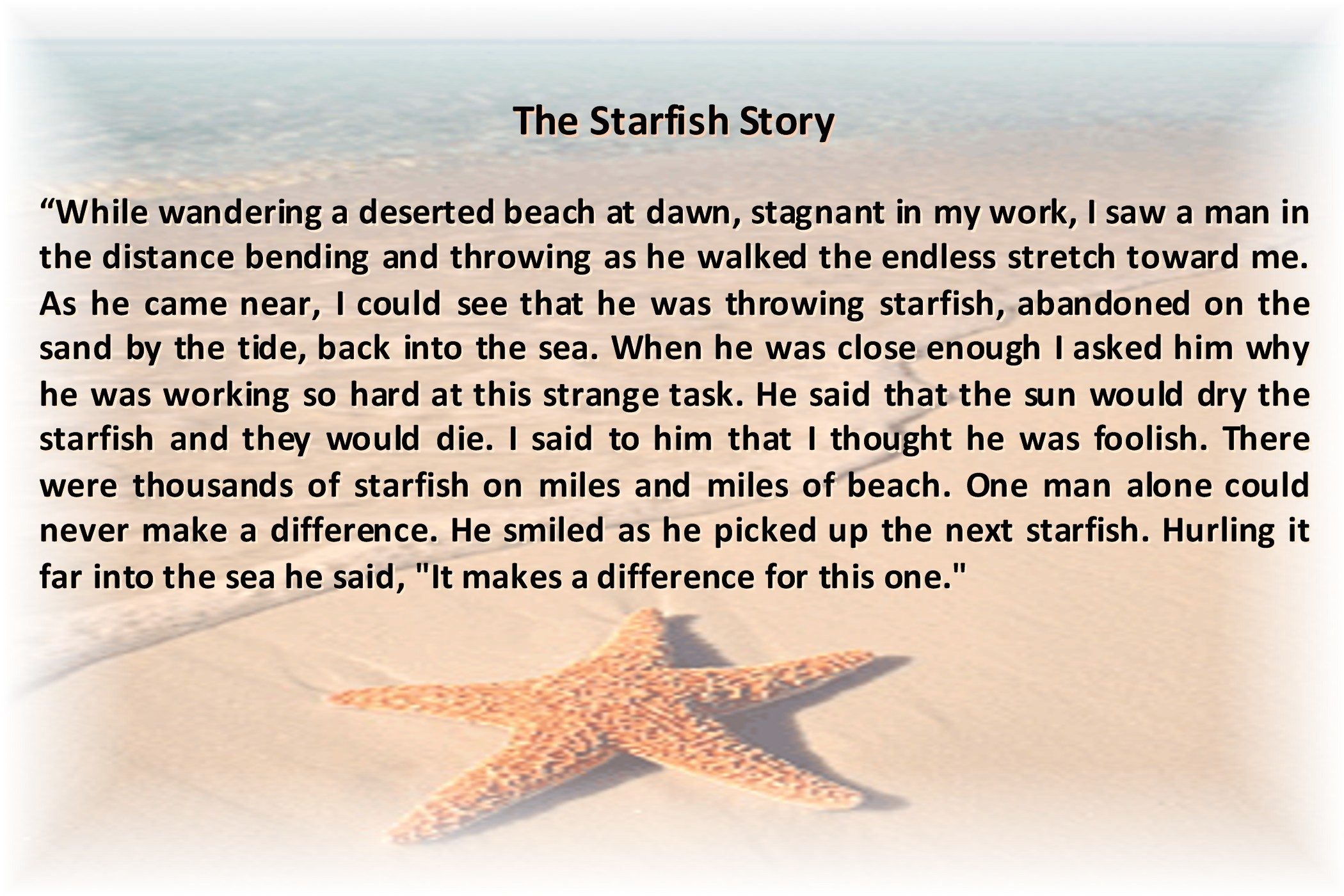 essay on starfish can somebody else take the call blog w life can somebody else take the call blog w life uncategorizedstarfish story