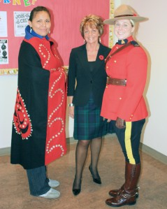 Andrea Hotomanie, Principal, Glenda Speight, Constable Erin McAvoy