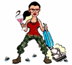 Girl Vacuum Wine