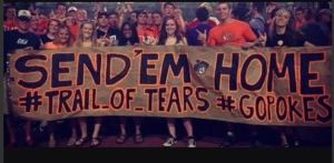 redskins fan trail of tears