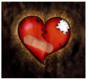 heart bandaged