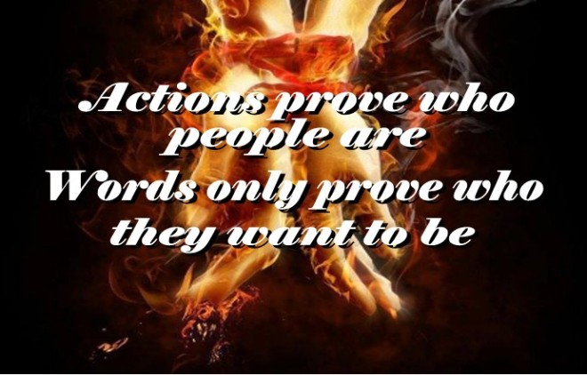 Actions Prove who people are