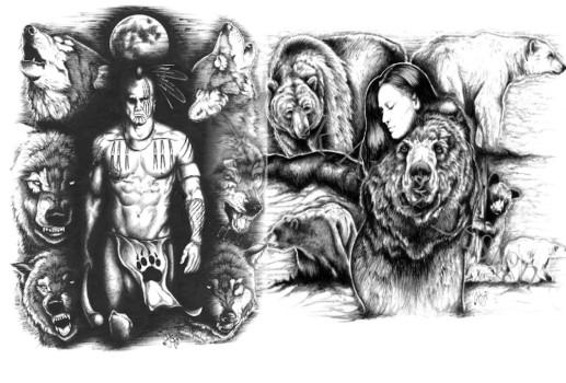 wolf-bear-spirits
