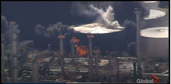 refinery fire wisconsin
